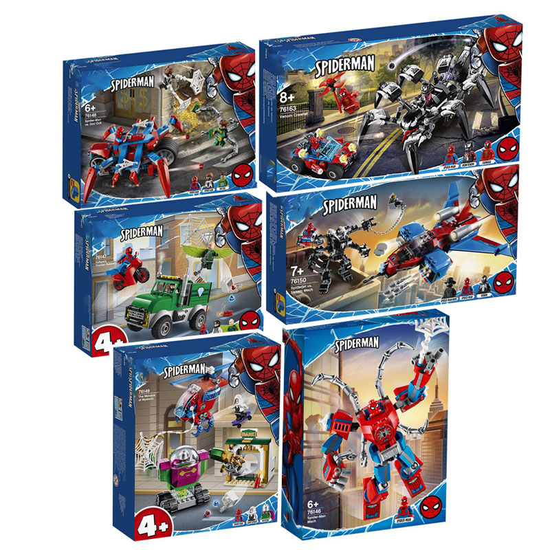 New 2020 SpiderMan Super Heroes 76163 76148 76149 76150 Building Blocks Brick Toys For Children image