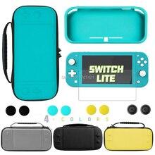 Nowość na przełącznik do Nintendo Lite skórzany pokrowiec Case schowek ochronny torba na konsolę Nintendo Switch Mini walizki do przenoszenia