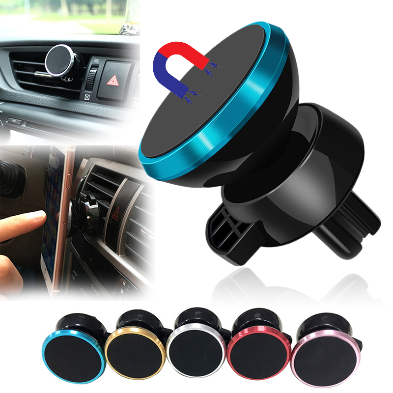 360 Degree Magnetic Car Phone Holder Air Vent Mount Magnet Car Holder For Your Mobile Phone Stand Suporte Celular Ppara Carro