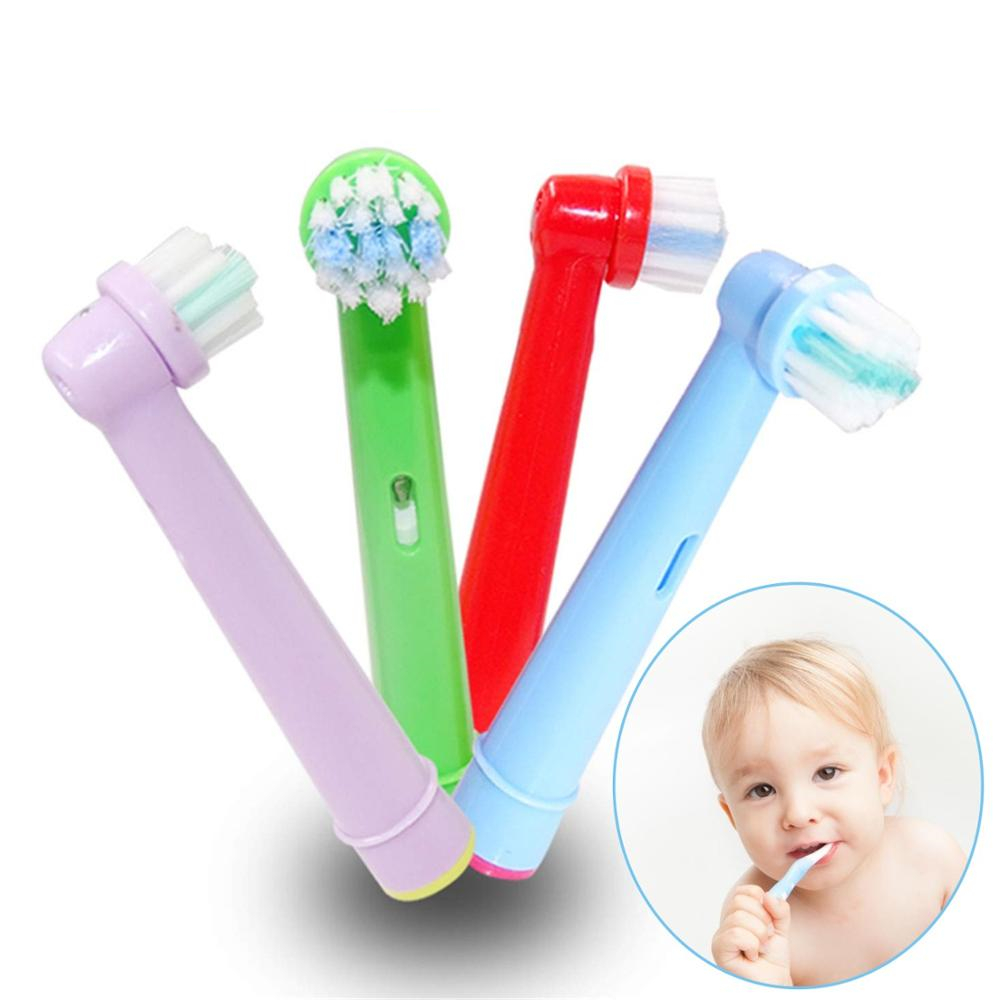 4pcs Replacement Kids Children Tooth Brush Heads For Oral B Electric Toothbrush EB-10A Pro-Health Stages 3D Excel Oral Care image