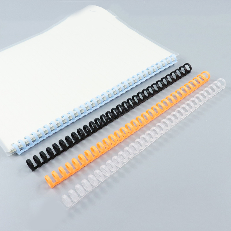 5pcs 12mm 30 Hole Loose-leaf Plastic Binding Ring Spring Spiral Rings For Kid A4 A5 A6 Paper Notebook Stationery Office Supplies