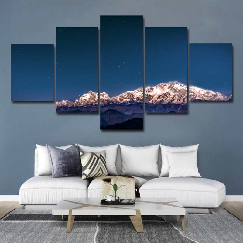 5 Panels Potala Palace Winter Natural Scenery Pictures Paintings Modern Wall Art Decor Poster For Bedroom Living Room Home Decor