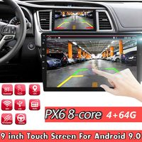 PX6 9 Inch 1 DIN 4+64G for Android 9.0 Car MP5 Player 8 Core Touch Screen Stereo GPS bluetooth RDS FM AM Radio