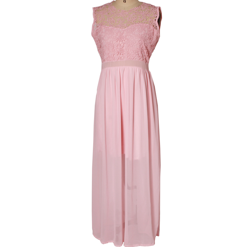 Sexy Bridesmaid Dresses Lace Backless O-Neck Sleeveless Long Chiffon Wedding Party Formal Gowns Dress For Wedding Party