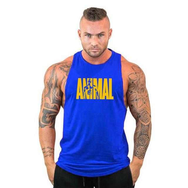 New Gyms Tank Top Summer Brand Cotton Sleeveless Shirt Casual Fashion Fitness Stringer Tank Top Men bodybuilding Clothing M-XXL 4