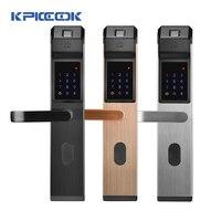 KPIOCCOK Sicherheit Elektronische Keyless Türschloss Digitale Smart APP WIFI Touchscreen Tastatur Passwort Lock Tür Die Vermietung Home Hotel-in Elektroschloss aus Sicherheit und Schutz bei