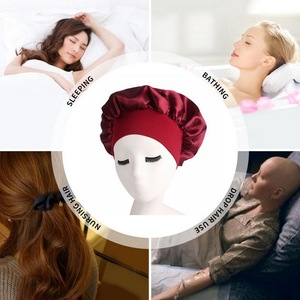 1 шт., длинный Уход за волосами, женская шапка для ночного сна, одноцветная Атласная шапочка для укладки волос, шелковая шапочка для душа, инструмент для укладки волос|Шапочки для душа|   | АлиЭкспресс