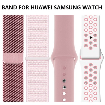 20mm 22mm Strap For Samsung Gear sport S2 S3 Classic galaxy watch 42mm 46mm active 40 44 Band huami amazfit gtr Bip huawei gt 2 22mm 20mm nylon strap for samsung galaxy watch 46mm 42mm active 2 gear s3 classic band for huami amazfit bip huawei gt 2 bands