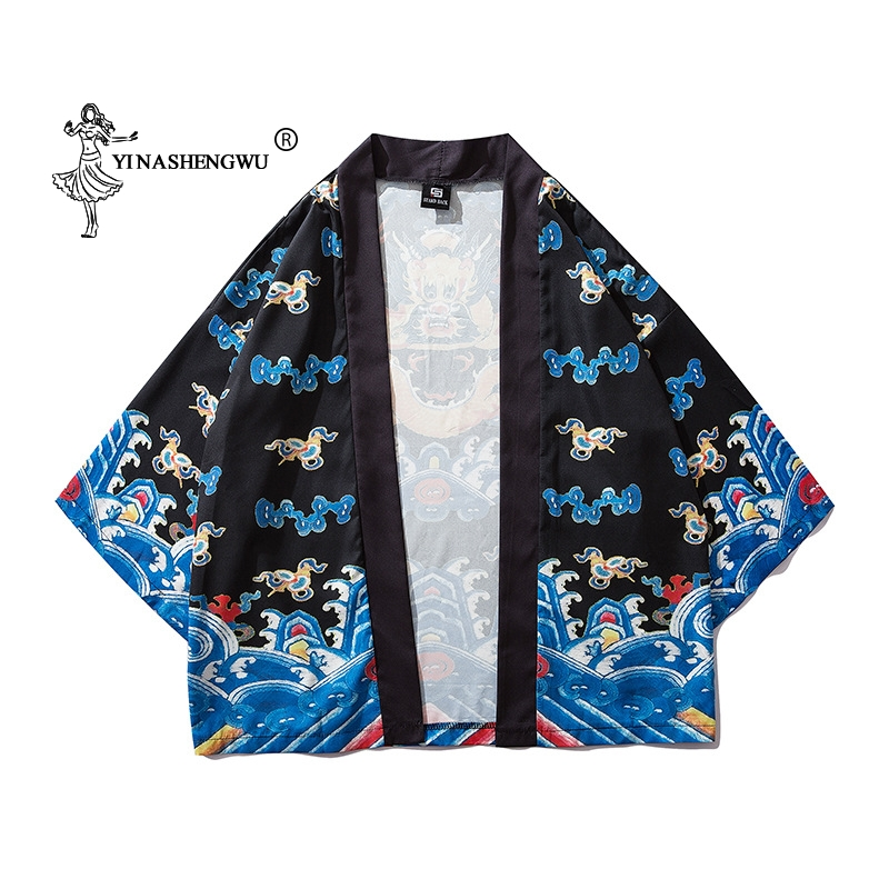 Women Print Yukata Kimonos Japanese Kimono Traditional Cardigan Men Cardigan Shirts Coat Asian Clothes Kimono Cosplay Costumes