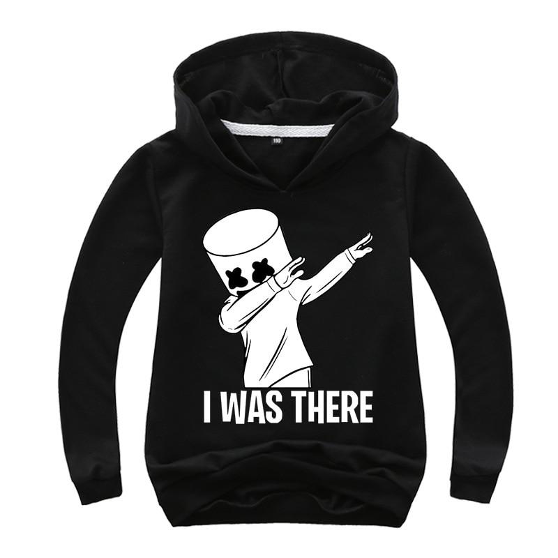 Black White Hoodies Human Child Print Cartoon Doll Hoodie Streetwear Hoodie Sweatshirt Boys And Girls Children's Clothes