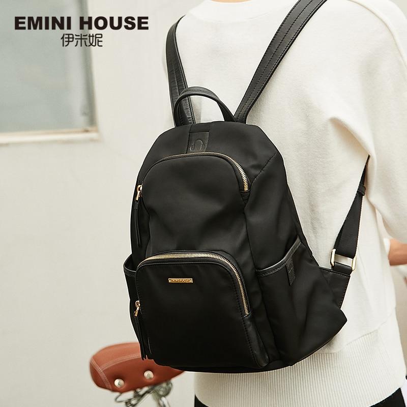 EMINI HOUSE Anti Theft Backpacks For Women Travel Waterproof  Nylon Bag Backpack Female Zipper Design School Bag Back Pack