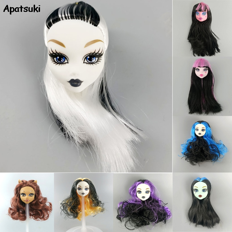 1pcs Make Up Doll Head For Monster High Dolls Make-up Heads For Monster Soft Plastic DIY Toy Dollhouse Accessories 1/6 BJD Dolls