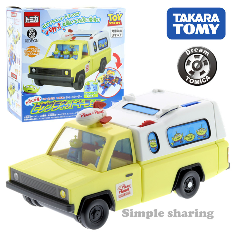 Takara Tomy Dream Tomica Ride On Toy Story 4 Pizza Planet Truck Figure