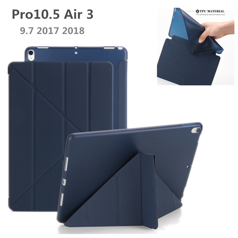 """TPU Case for iPad Pro 10.5"""" Air 3 2019 Protective Stand Cover Magnet Case For iPad 9.7 Case 2017 2018 5th 6th Tablet Cover+Pen-in Tablets & e-Books Case from Computer & Office"""