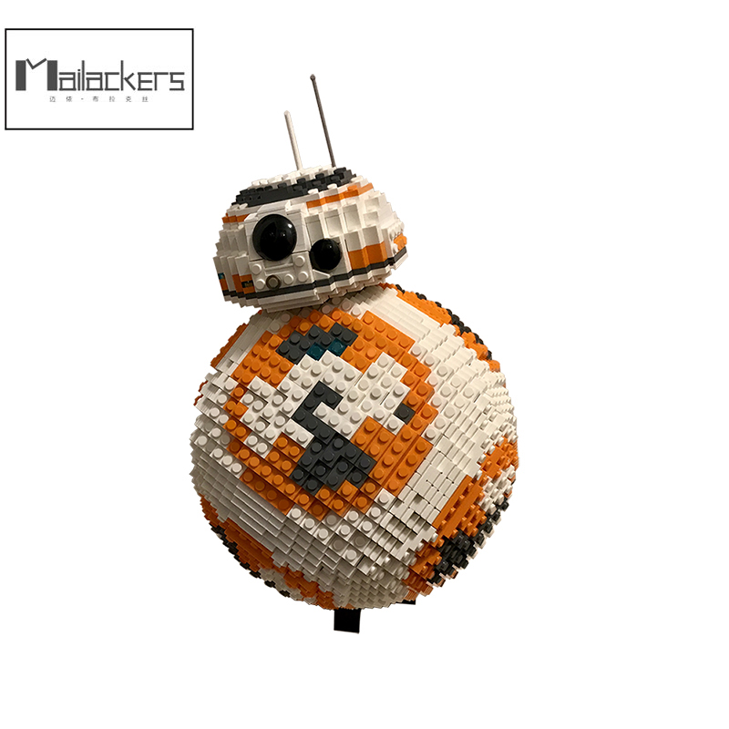 Buildmoc Technic <font><b>Star</b></font> <font><b>Wars</b></font> Ucs <font><b>Bb8</b></font> Spherical Robot Figures Model Building Block Starwars Starfighterr Bricks Toys Gifts Kid Boys image