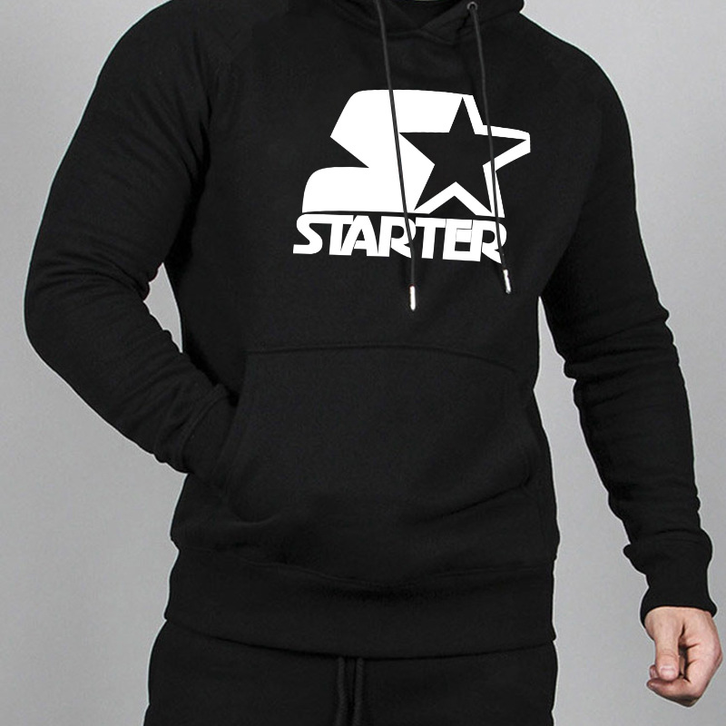 2018 Autumn Starter Lettered Star Combination Printed Europe And America Hot Selling MEN'S Hoodie