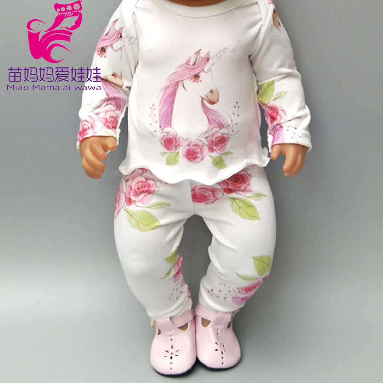 "Fits for 43cm  baby dolls clothes unicorn pajamas doll dress for 18"" girl doll clothes  children toys wear"