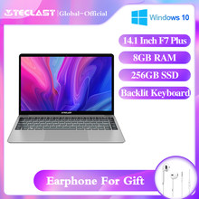 Teclast F7 Plus 14.1 calowy Laptop Windows 10 Notebook 8GB LPDDR4 256GB M.2 SSD 1920 * 1080IPS intel N4100 Bluetooth 4.2 Wifi laptopy(China)