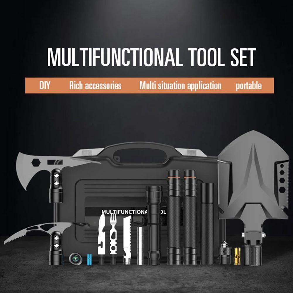 Military Folding Multifunction Tool Set Shovel Tactical Camping Survival kit AX