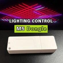 Dmx controlador usb luz de discoteca iluminação palco led interface dmx controle de iluminação profissional m5 chave dongle e software