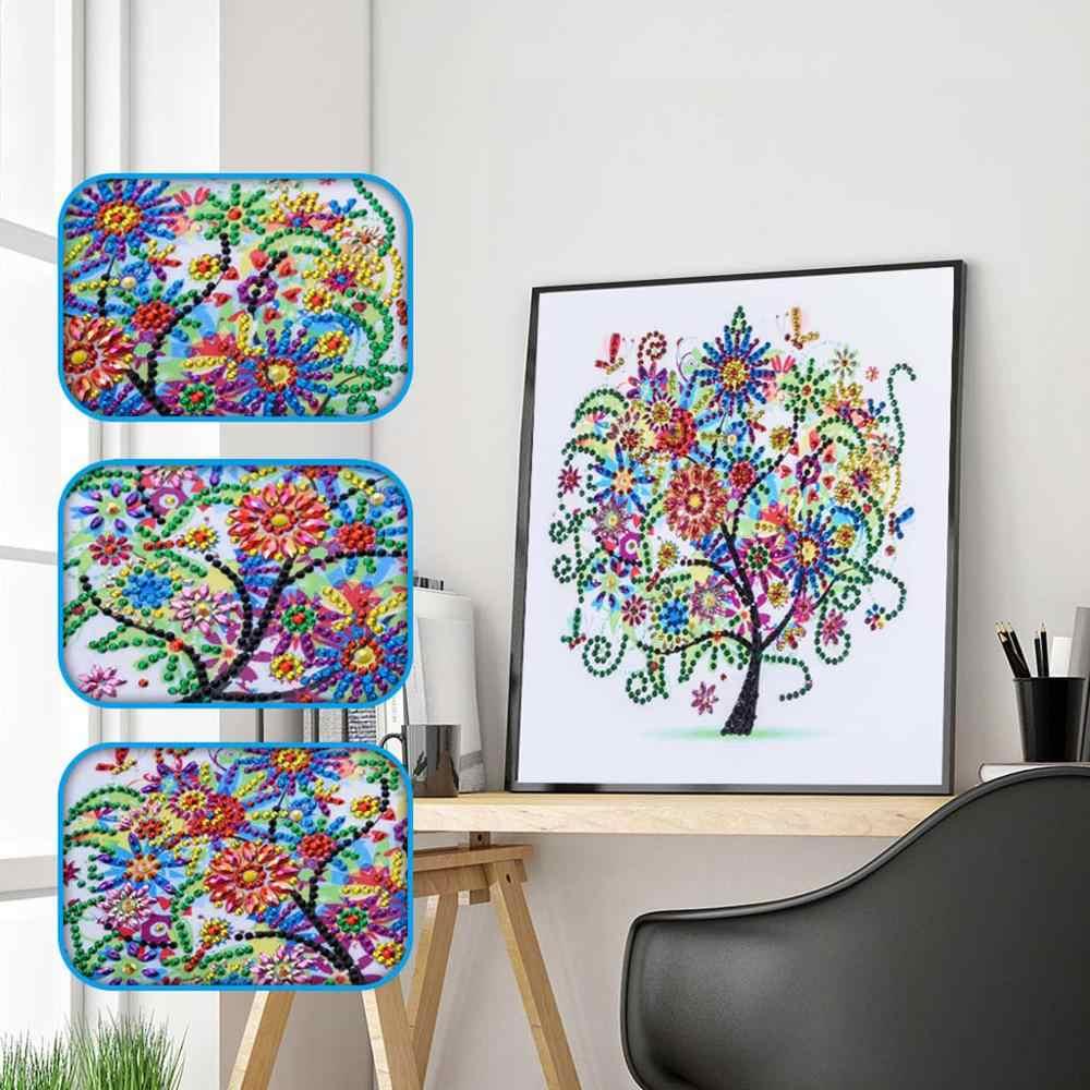 מיוחד צורת יהלומי ציור DIY 5D חלק יהלומי צלב סטיץ ערכת קריסטל ריינסטון רקמת אמנות