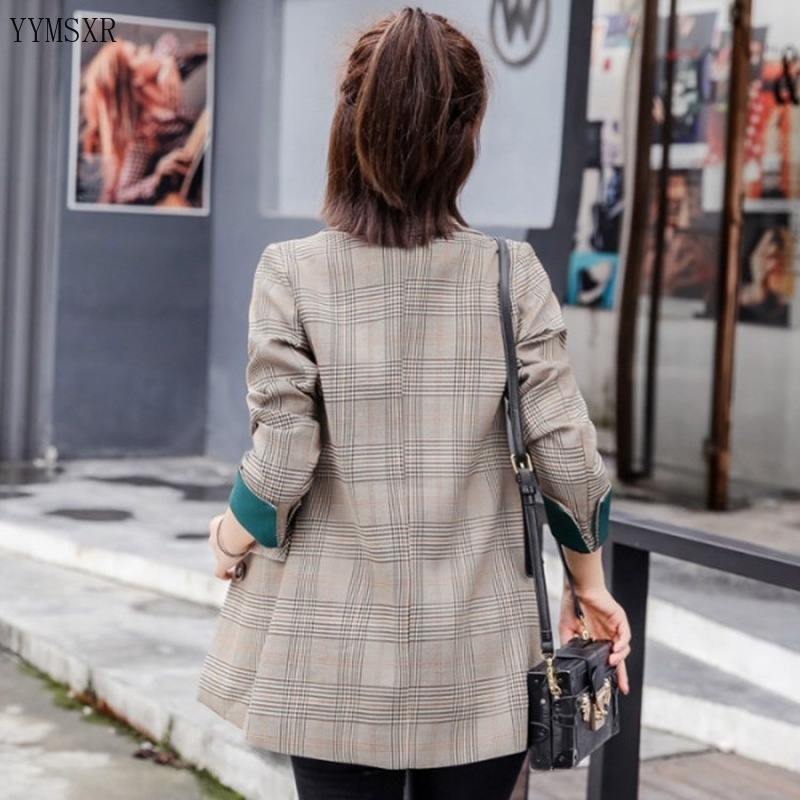 2020 Korean version of the new spring and autumn ladies jacket feminine suit Casual Elegant High Quality Plaid Women's Blazer