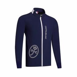 Закрученный мужской бархатный Тренч, спортивная одежда с длинными рукавами, ветровка для гольфа, S-XXL на выбор, одежда для отдыха, для гольфа, ...