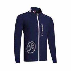 Di turbine degli uomini di più di velluto trincea cappotto abbigliamento sportivo lungo-sleevedgolf giacca a vento S-XXL scegliere per il tempo libero golf apparel spedizione gratuita