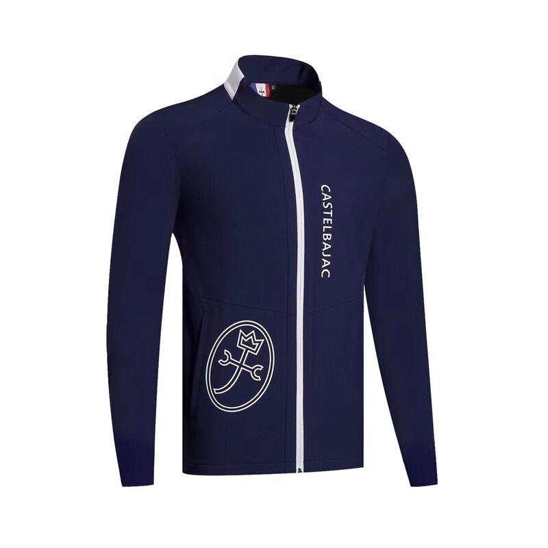 Swirling Men's  Plus Velvet Trench Coat Sportswear Long-sleevedgolf Windbreaker S-XXL Choose Leisure Golf Apparel Free Shipping