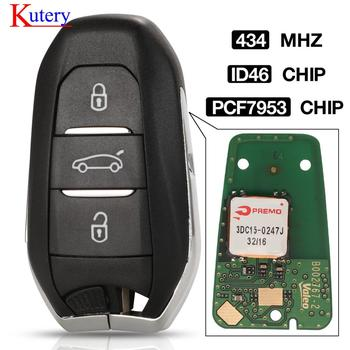 kutery car smart keyless go remote key for Citroen DS3 DS4 DS5 DS6 HU83 Blade id46 pcf7953 chip 434mhz