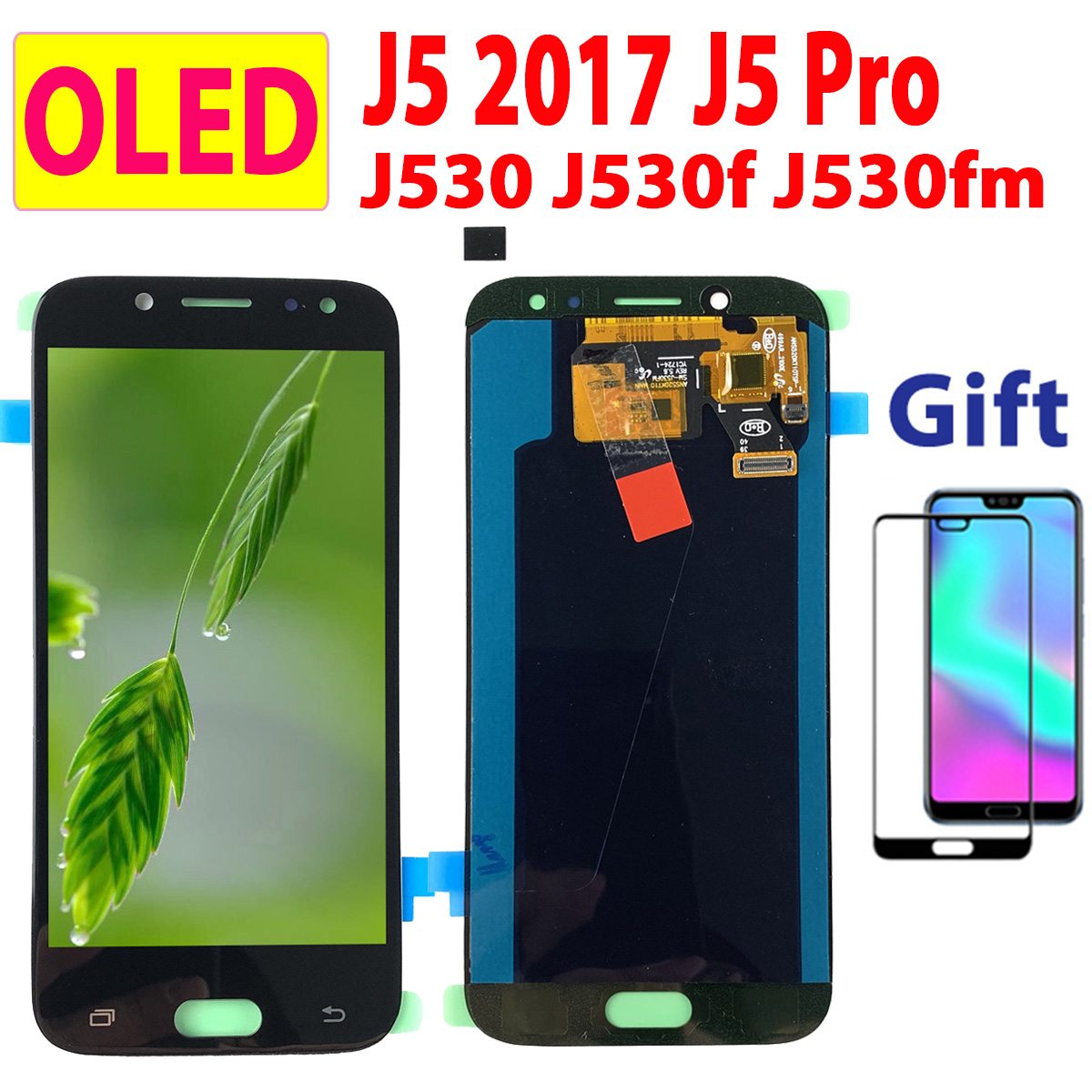 OLED Long Flex LCD For SAMSUNG Galaxy J5 Pro J530F Digitizer Display Touch Screen LCD For Samsung J530 LCD J5Pro J5 2017 J530Y