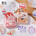 45 teile/los Nette Kawaii Tier Panda Papier Scrapbooking Aufkleber Flacks Schreibwaren Schule Liefert