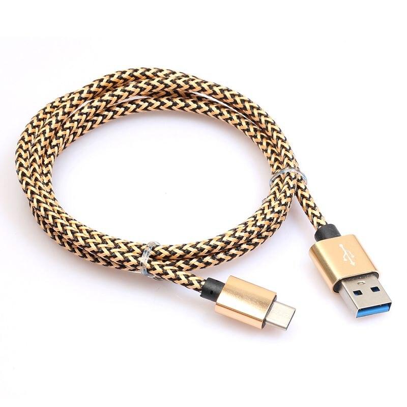 USB-C 3,1 Тип C штекер 3,0 тип A со штепселем, для передачи данных и подзарядки кабель быстрой зарядки - Цвет: Yellow