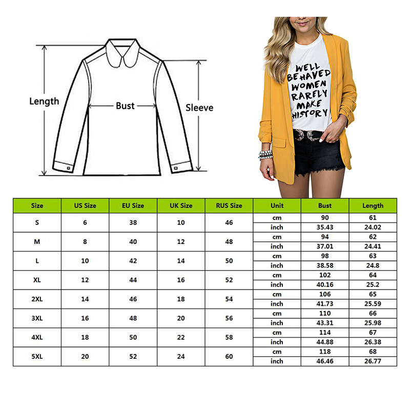 OEAK Blazers For Women Office Work Suit Solid Plus Size Long Sleeve Blazer Casual Jacket Coat chaqueta mujer Blazer Femme