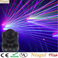 60W RGB Stepless Moving Head Stage Effect Laser Light DMX512 Linear Beam Effect Scan Laser Projector Mini Spot Wash Lighting