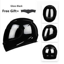 Motorbike Full Face DOT Helmet - BYE-616 Racing Motorcycle Helmet with dark lens - Medium, Matt Black мото шлем icon alliance dark helmet matte