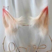 Nowy LOL KDA Ahri Cosplay wilk Fox uszy włosów Hoop ręcznie wykonane pracy dla KC Cosplay Party gry kostium akcesoria wykonane na zamówienie