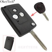 OkeyTech 3 przyciski zmodyfikowana klapka składana wymiana obudowa kluczyka samochodowego dla Lada zdalne skrzynki pokrywa Fob projekt pusty klucz zdalny modyfikuj tanie tanio Remote Car Key Case For Lada Key Shell For Lada Plastic And Metal China For Lada-KS03 100 Brand New and High Quality Remote Car Key Case