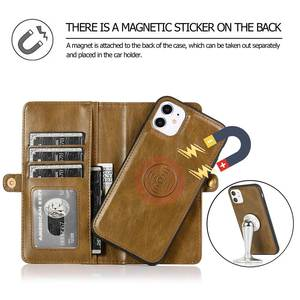Image 3 - KISSCASE Magnetic Leather Wallet Case For iPhone 11 Pro Max 7 8 6 6S Plus Phone Holder For iPhone XS Max XR X PU Retro Handbag