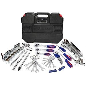 Image 2 - WORKPRO conjunto de herramientas de reparación de automóviles, kit de herramientas mecánicas, destornilladores, llaves inglesas de carraca, enchufes, 123 piezas