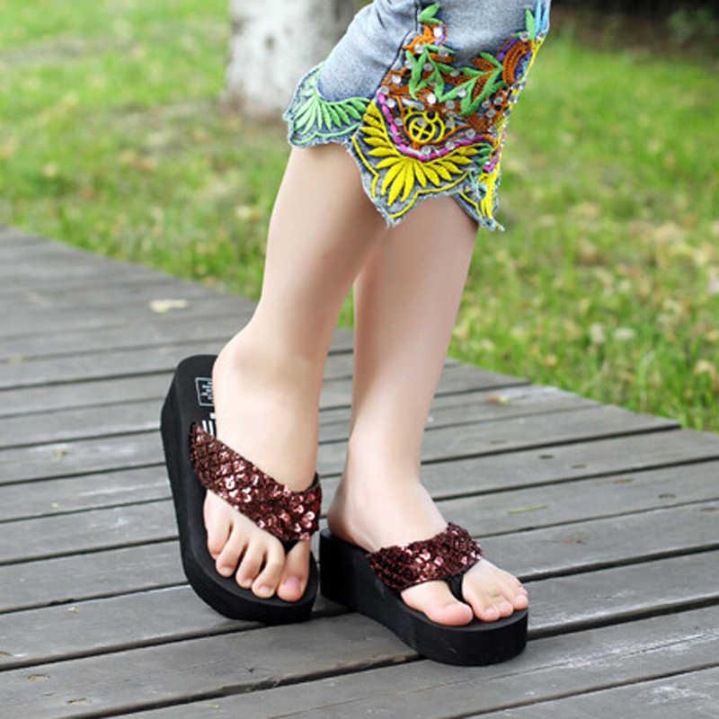 2020 Phụ Nữ Mới Xỏ Ngón Chắc Chắn Trượt Giày Sandal Nữ Phụ Nữ Độ Dày Đầm Giày Zapatillas Giày Dép Giày Đi Biển