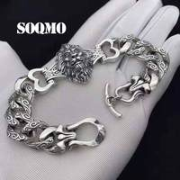 2019 Creative Lion Charm bracelets Bangle 100% Real 925 Sterling Silver Jewelry Men Bracelet pulseras plata de ley 925 mujer