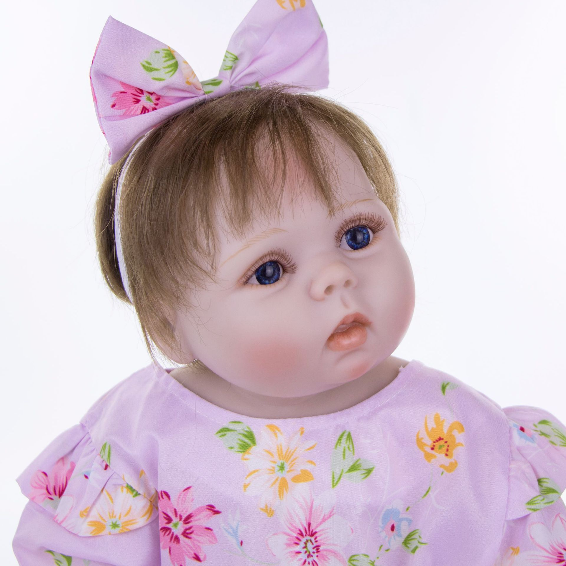 """NPK real baby victoria girl 23"""" full body silicone reborn baby dolls rooted new hair bebes reborn kids toy gift bonecas-in Dolls from Toys & Hobbies    3"""