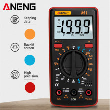 Aneng M1 Digital Multimeter ESR Meter Amp Multimetro Tester True RMS Digital Multimeter Penguji Multi Meter Richmeters DMM 400A(China)