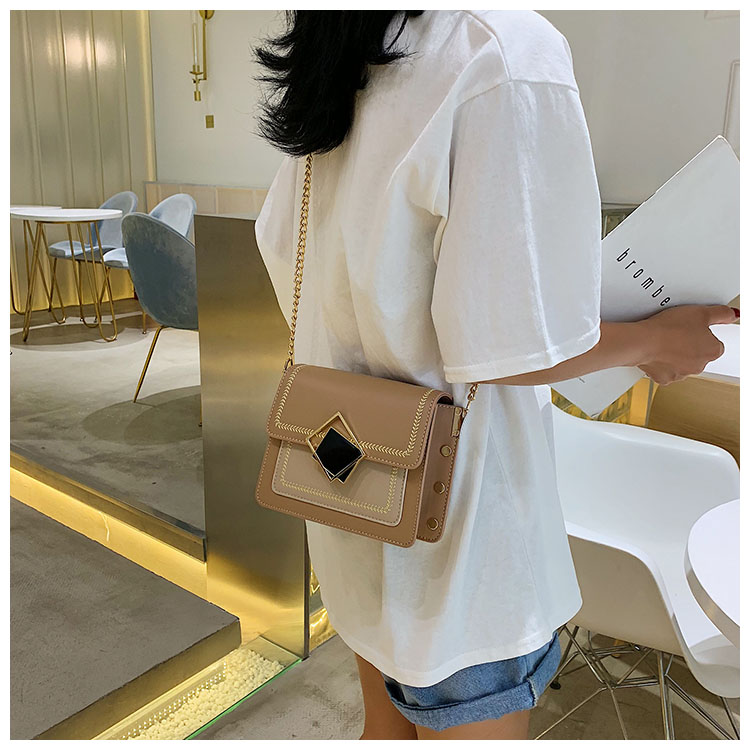 H5d734997f9ea48ddad58c4df950b3963V - Chain Pu Leather Crossbody Bags For Women Small Shoulder Messenger Bag Special Lock Design Female Travel Handbags