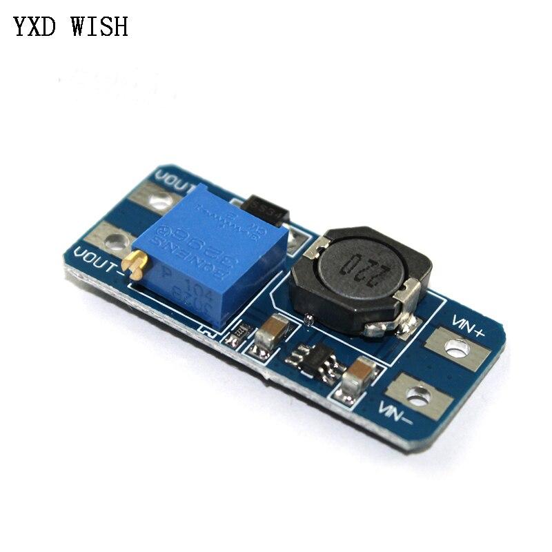 5 uds MT3608 DC-DC módulo de fuente de alimentación de refuerzo convertidor de aumento de CC Tarjeta de aumento de salida máxima 28V 2A para Arduino