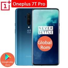 Oneplus 7t pro telemóvel rom global, snapdragon 855 plus 6.67 ''amoled fluido 90hz taxa de atualização de tela 48mp câmera tripla 4085ma