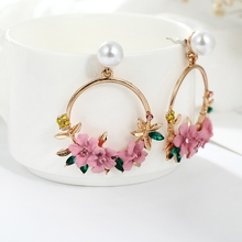 Hot Cute Girl Flower Earrings Classic Simple Elegant Temperament Bride Wedding Party Jewelry Wholesale