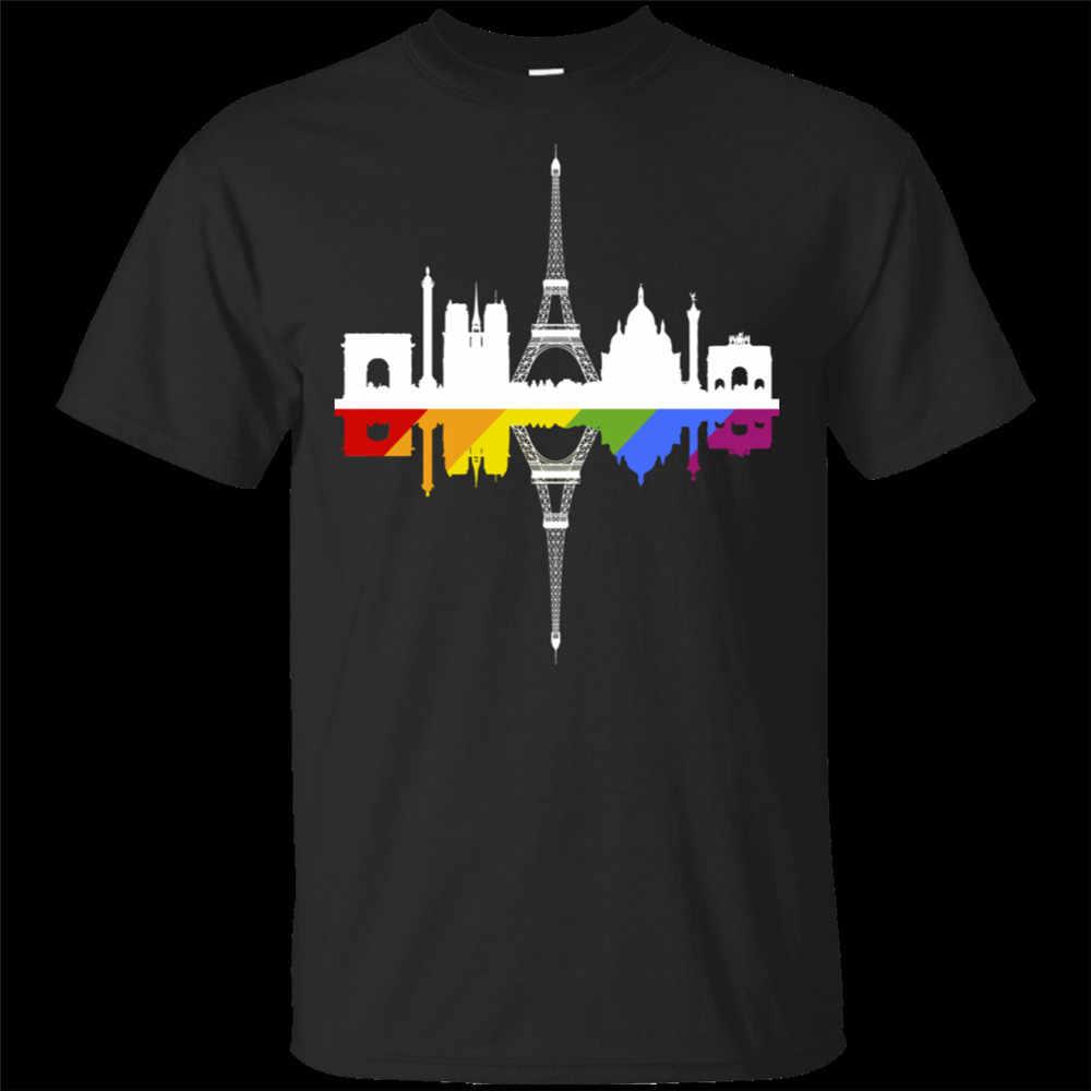 LGBT NYC World Pride 2020 Rainbow ปารีสเสื้อยืดสีดำขนาด M-3xl สำหรับเยาวชนกลาง-อายุเก่า TEE เสื้อ
