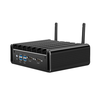 Mini PC Intel Core i7 5500U DDR3L mSATA SSD 2*RS232 2*Gigabit Ethernet WiFi Bluetooth 4*USB3.0 HDMI VGA Windows 10 Linux oloey industrial mini pc intel core i7 4500u windows linux 2 gigabit ethernet 6 rs232 rs485 hdmi vga 8 usb wifi watch dog